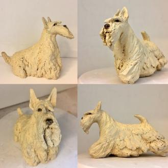 Scottish terrier wheaten art
